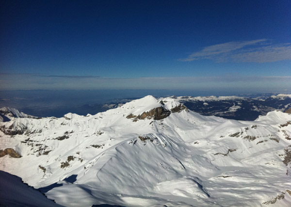 The view from Schilthorn, 3000 meters above sea level