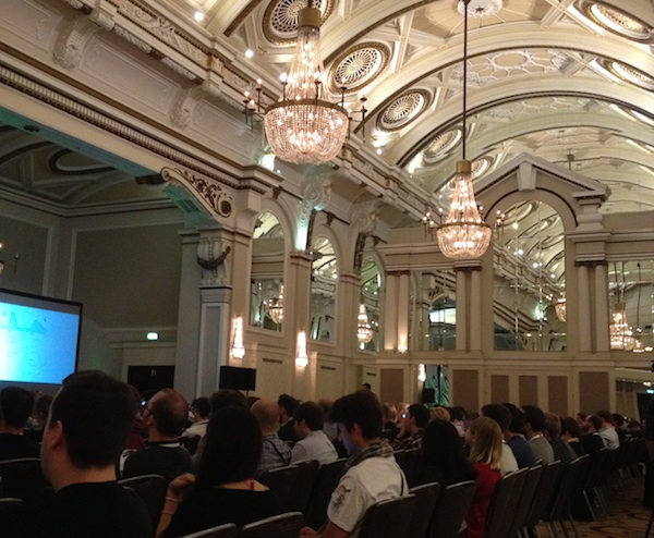 The main conference hall at Generate in The Grand Connaught Rooms